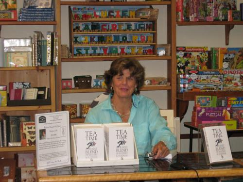 Barbara Luff visiting Village Square Booksellers in 2008